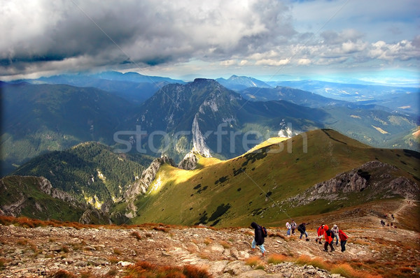 Mountains stormy landscape Stock photo © photocreo