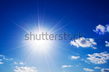 Sunny blue sky Stock photo © photocreo