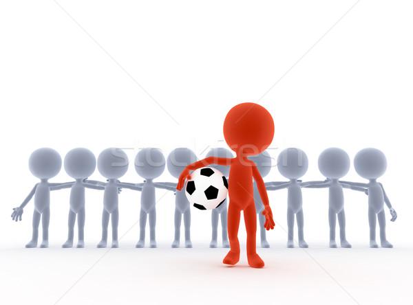 Futebol futebol líder da equipe bola pessoas mão Foto stock © photocreo