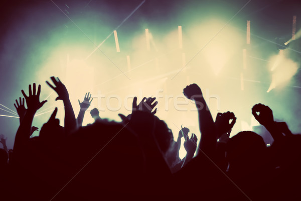 People on music concert, disco party. Vintage Stock photo © photocreo