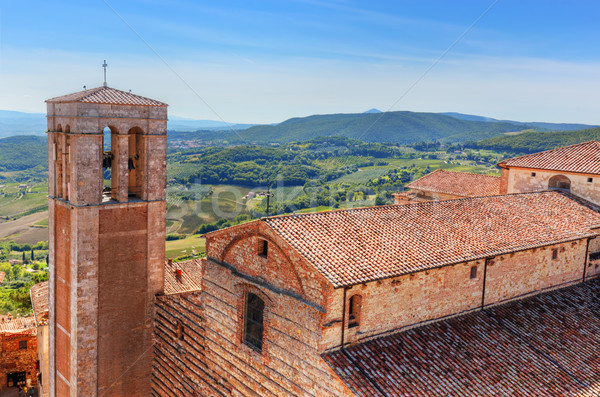 Toskana İtalya katedral İtalyan Stok fotoğraf © photocreo