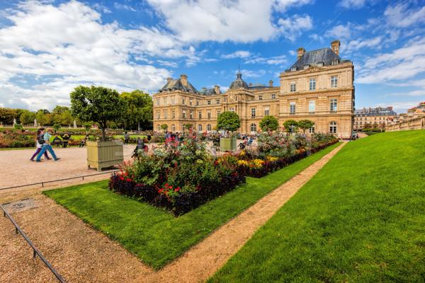 Luxemburgo palácio jardins Paris França Foto stock © photocreo