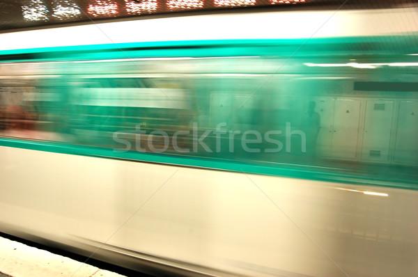 Ondergrondse beweging metro reizen snelheid metro Stockfoto © photocreo