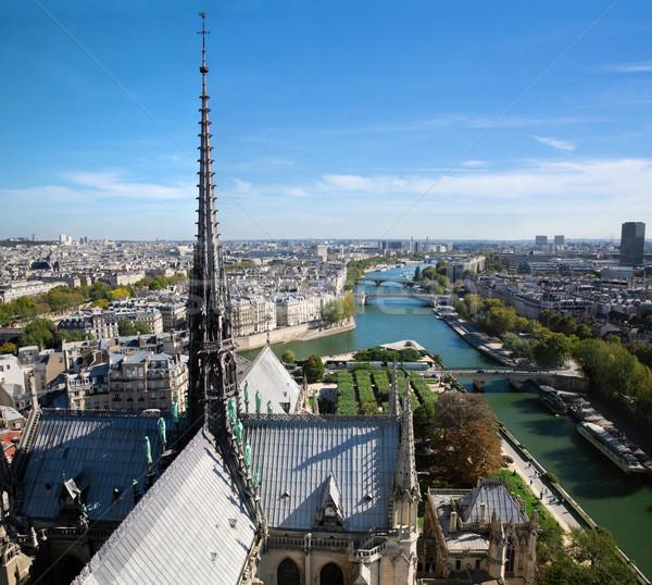 Stock photo: Paris panorama, France. Seine river