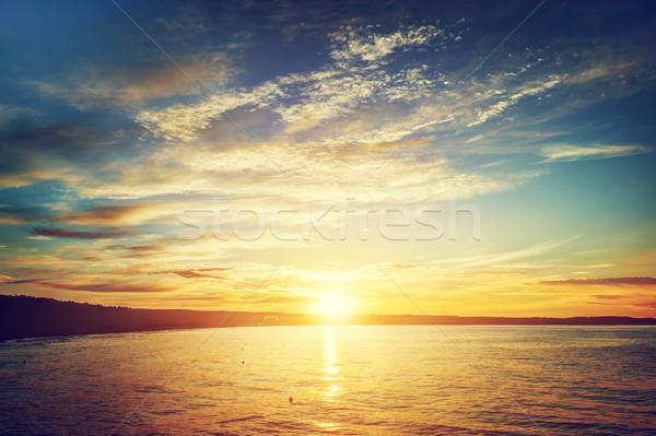 Mare tramonto danzica Polonia mar baltico natura Foto d'archivio © photocreo