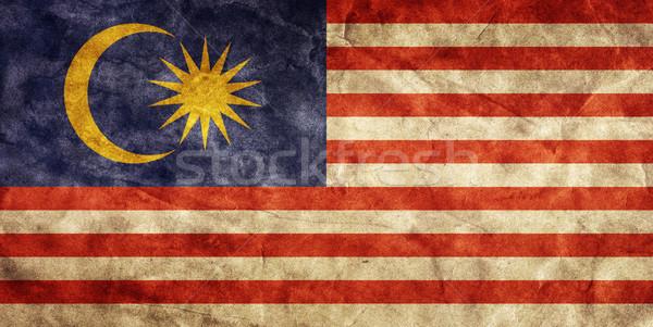 Malaysia grunge bandiera articolo vintage Foto d'archivio © photocreo