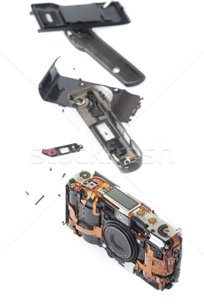 Disassembled pocket camera with loose pieces Stock photo © photohome