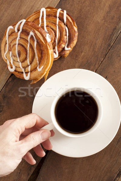 Coffee and fresh Danish for breakfast Stock photo © photohome