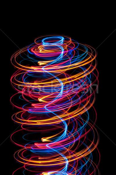 Сток-фото: свет · спиральных · аннотация · оранжевый · синий
