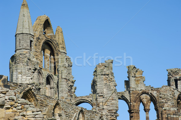 Close-up of the Whitby Abbey gothic ruins Stock photo © photohome