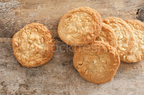 Fresh Baked Cookies on Rustic Wooden Table Stock photo © photohome