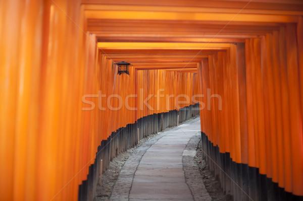 Túnel rojo santuario líder templo Foto stock © photohome