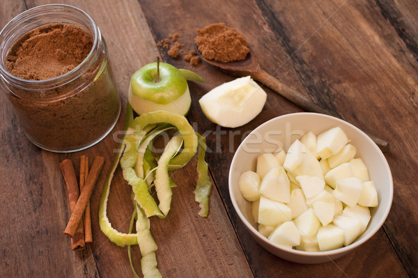 Ingredients for homemade apple sauce Stock photo © photohome