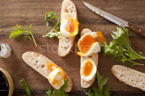 卵 兵士 ソフト ゆで卵 ストックフォト © photohome