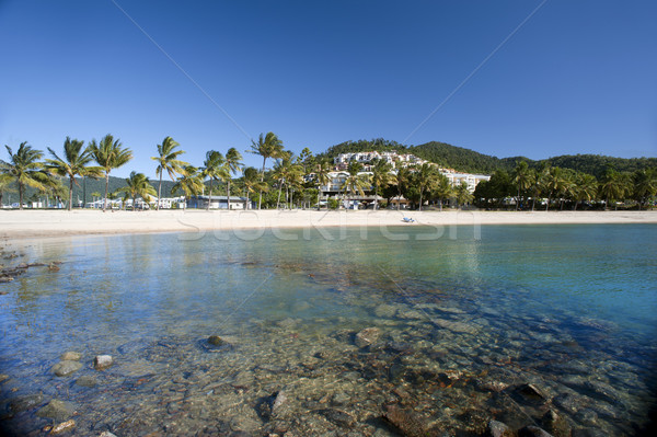 Vue belle plage queensland Australie blanche Photo stock © photohome