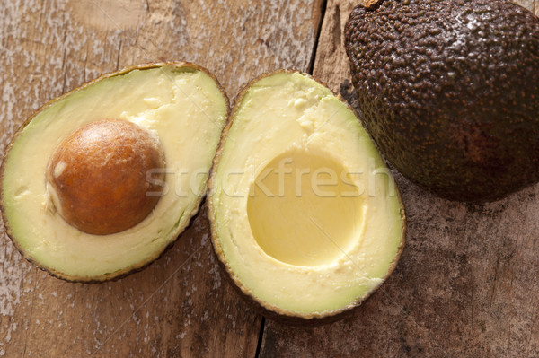 Halved healthy ripe tropical avocado pear Stock photo © photohome