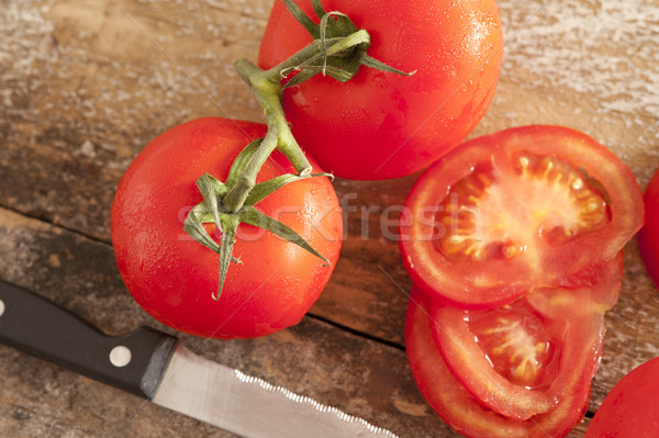 Todo frescos tomates vid jugoso Foto stock © photohome