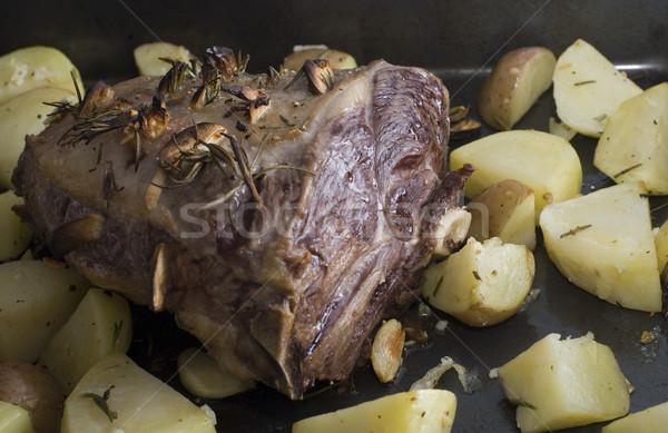 roast lamb Stock photo © photohome