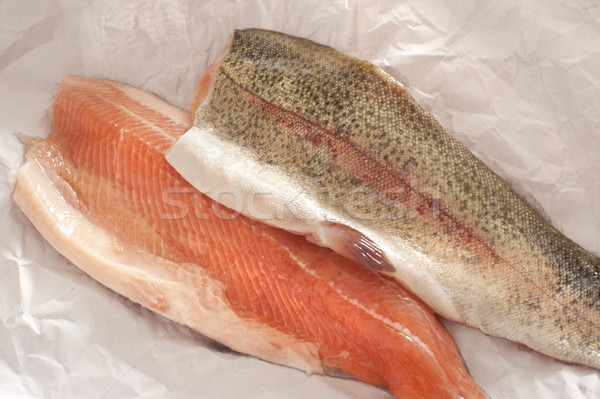 Two fresh rainbow trout fillets Stock photo © photohome
