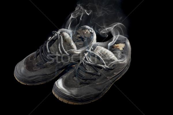 Podre par velho preto sapatos Foto stock © photohome