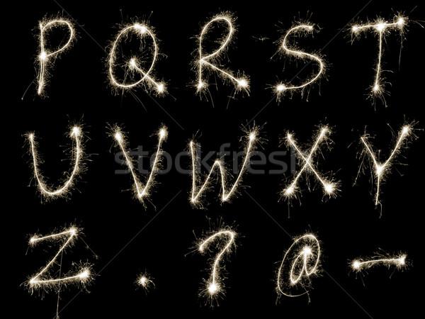Sparking Alphabet RtoZ Stock photo © photohome