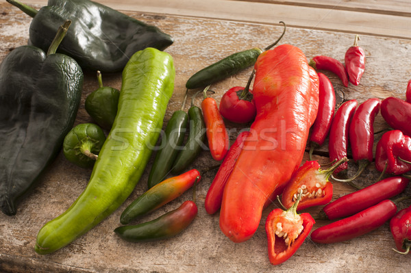 Assortment of colorful freshly picked peppers Stock photo © photohome