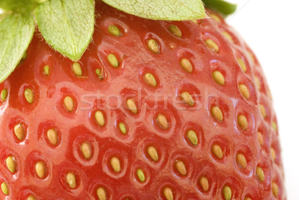 Macro vue rouge juteuse fraise Photo stock © photohome