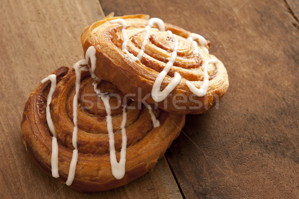 Two delicious freshly baked Danish pastries Stock photo © photohome