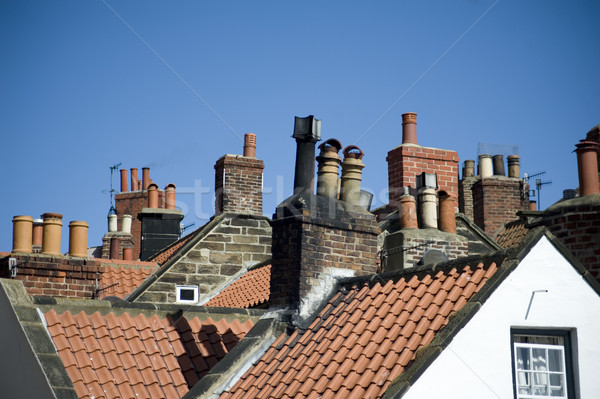 Variety of chimney pots in Robin Hoods Bay Stock photo © photohome