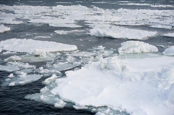Jég hideg óceán Japán lebeg darabok Stock fotó © photohome