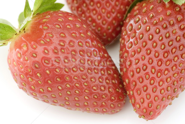 3  赤 イチゴ 白 表 ストックフォト © photohome