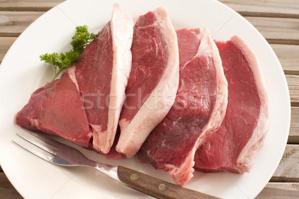 新鮮な ステーキ プレート フォーク ストックフォト © photohome