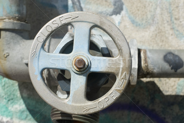 стороны клапан старые металл трубы открытых Сток-фото © photohome