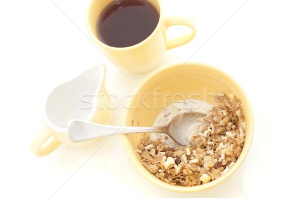 Tazón muesli café desayuno vista Foto stock © photohome