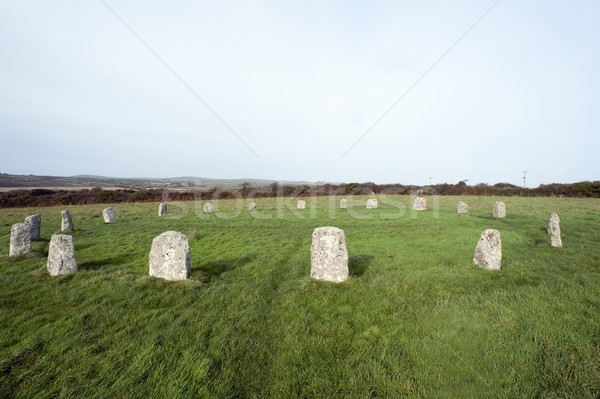 The Merry Maidens Stone Circle in Cornwall Stock photo © photohome
