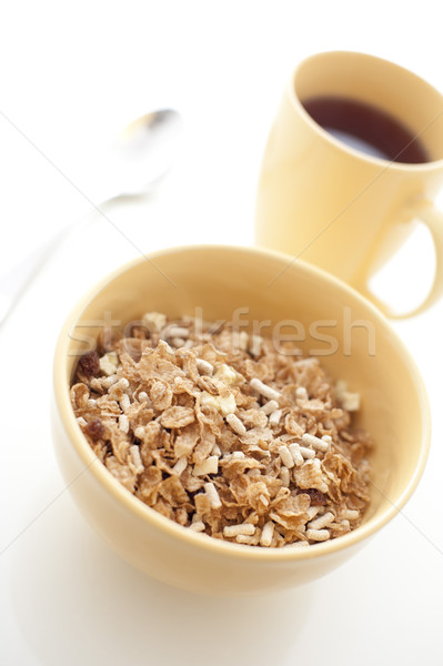 Breakfast cereal and coffee Stock photo © photohome