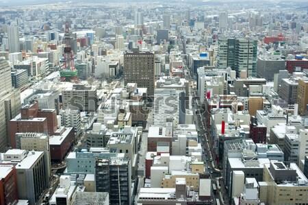 City of Sapporo, Japan in winter Stock photo © photohome