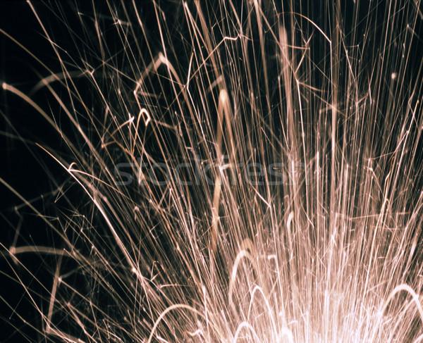Havai fişek beyaz sıcak soyut ışık enerji Stok fotoğraf © photohome