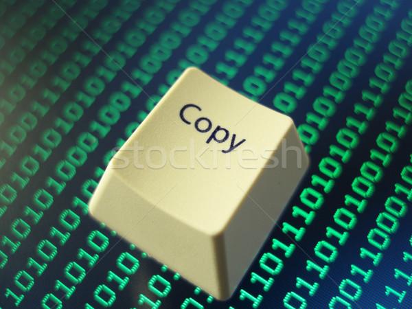 Copiar chave simbólico computador segurança Foto stock © photohome