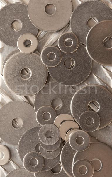 Absztrakt minta textúra számos rozsdamentes acél full frame Stock fotó © photohome