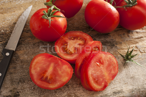 Succulent rouge tomates couteau Photo stock © photohome