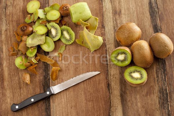 デザート 表示 木製 キッチンカウンター ナイフ 新鮮な ストックフォト © photohome