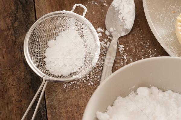 Cozinha açúcar de confeiteiro balcão da cozinha tigela Foto stock © photohome