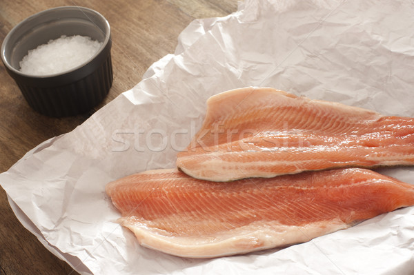 Fresh raw rainbow trout fillets Stock photo © photohome