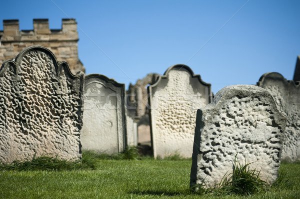 Old weathered gravestones Stock photo © photohome