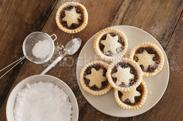 Traditional Christmas fruit mince pies Stock photo © photohome