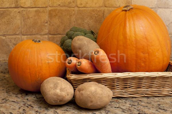 収穫 新鮮な 秋 秋 野菜 浅い ストックフォト © photohome
