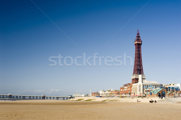 View of the beachfront at Blackpool Stock photo © photohome