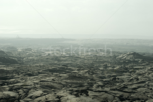 Lavafield smoke Stock photo © photohome