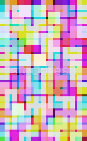 vivid digital squares Stock photo © photohome